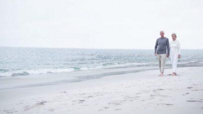 gå tur ved stranden
