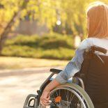 eenage Girl In Wheelchair Outdoor
